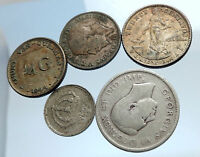 GROUP LOT of 5 Old SILVER Europe or Other WORLD Coins for your COLLECTION i74384