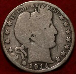 1914 Philadelphia Mint Silver Barber Half Dollar