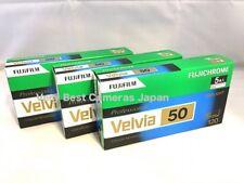 15 Rolls FUJIFILM VELVIA 50 in 120 Color Roll Film 6x9 6x8 6x7 6x6 6x4.5 FRESH
