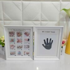Cute Photo Frame Ink Pad Picture Holder 1st Year Photograph Stand Baby Keepsake