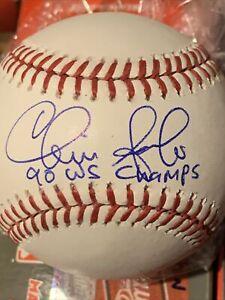 Chris Sabo 1990 WS Champs Autographed Signed OMLB Baseball Cincinnati Reds