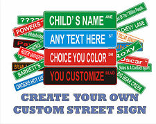 "Large Custom Personalized Street Signs 6"" x 24"" Aluminum 