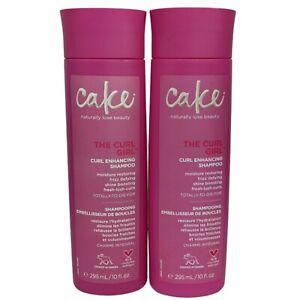 (2) Cake The Curl Girl Shampoo Moisturize Frizzy Hair Shine Boosting 10 Oz. Each