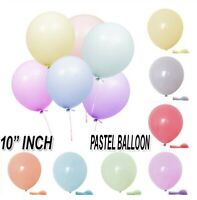 "10"" inch Quality Macaron Pastel balloons Round Latex Choose Colour 10-100 Pcs UK"
