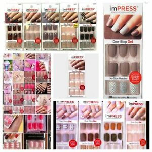 imPRESS Gel & Reg Press-on Manicure Nails 24 & 30 Nail W/accents CHOOSE Style
