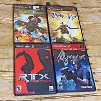 PlayStation 2 Games 4 Resident Evil Thunder Strike Mark of Kri Red Rock
