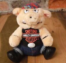 Vintage Harley Davidson Hog Plush Bandanna Do-Rag Motorcycle Stuffed Animal Pig