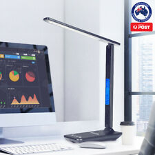 SESO LED Desk Lamp Light Rechargeable with Digital Clock Touch Dimmable Calendar