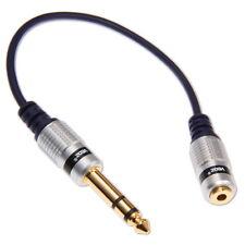 Adaptateur Jack 6,3mm Mâle vers Jack 3,5mm Femelle Stéréo Plaqué Or Câble Phono