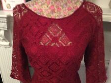 Monsoon Lapis Red LacE Dress Size 8 Pristine Holidays 9/5