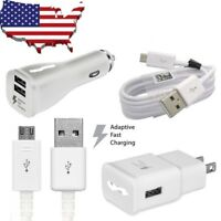 For Samsung Galaxy S6 S7 Edge Note 5 4 Fast Charging Wall Charger Micro USB Cord