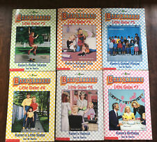 THE BABY-SITTERS CLUB/LITTLE SISTER BOOKS - LOT OF 6