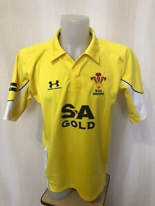 Wales National Rugby Union Team 2008/2009 Sz L Under armour shirt jersey maillot