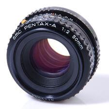 OBJECTIF PENTAX K :  SMC PENTAX-A 2/50mm PENTAX K - PKA - AVEC CONTACT A