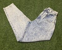 Women's VTG 90's High Waisted Lee Rider Acid Wash Jeans Sz 8 USA Made