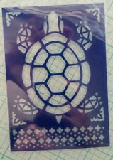 Turtle Sea Tropical DIY Background Stencil template art paint craft stencils A2