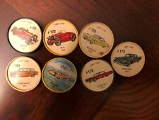 1960s Jell-o Jello cars picture wheel coins * Lot of 7