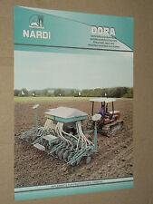 Prospectus Semoir NARDI Tracteur traktor tractor prospekt trattore brochure