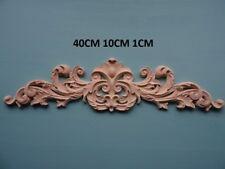 Decorative in legno applique foglia di grandi dimensioni centro Furniture MODANATURE Onlay C117