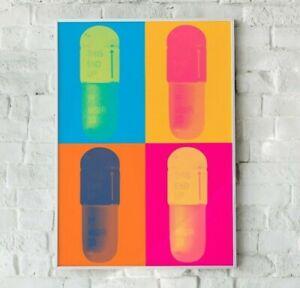 Pop Art Pill Print, Medical Print, NHS Print, Pill Print