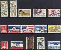 Nice Lot of 17 Different US Airmail Stamps from 1967 to 1991. MNH-OG  (022)