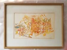 VTG Mono print ENERGESITY signed Friend Modernist Abstract