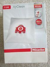 MIELE FJM Vacuum Bags  Air Clean AIRCLEAN ~ 3 bags / 4 filters  GENUINE NEW