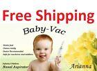 Baby Vac Arianna Nasal Vacuum Aspirator Suction Nose Cleaner Original Free Ship