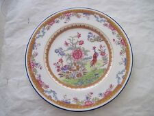 Antique Coalport Exotic BIRD & FLORAL # 5654 5 Lunch   plates 1891-1920