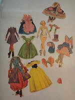 Vintage Merrill Little Ballerina Paper Dolls #1554 Cut Clothes One Paper Doll