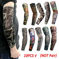 10PC Tattoo Cooling Arm Sleeves Outdoor Sport Basketball UV Sun Protection Cover