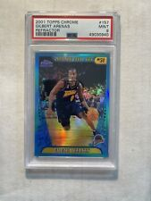 2001-02 Topps Chrome Refractor Gilbert Arenas Rookie Card RC #157 Psa 9 Mint