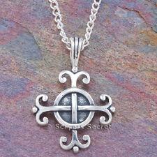 925 Sterling Silver CELTIC Irish Cross charm Pendant Necklace WISDOM on back