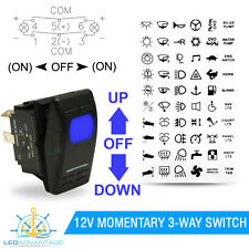 12V BOAT MOMENTARY (ON)/OFF/(ON) TRIM TAB ANCHOR WINCH UP/DOWN LED ROCKER SWITCH