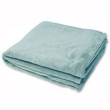 Riva Colorado 100% Polyester Supersoft Fleece Throw Duck Egg Blue 140cm x 180cm