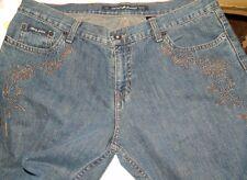 DKNY JEANS, Women's Size10, Flower Embellishments on Pockets & Legs CUTE!  #G7