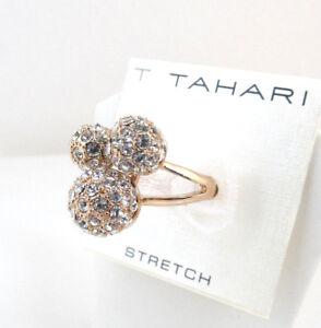 T Tahari 14k Rose Gold-Plated Triple Fireball Stretch Ring $50