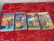 Lot of 4 The Land Before Time Lot VHS Tapes~I thru VII Vintage Clam Shell Cases