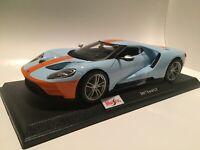 2017 Ford GT - Blue w/Orange Stripe: Die Cast Maisto Special Edition 1:18 scale