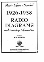 RADIO DIAGRAM SCHEMATICS 1926-1969 MOST OFTEN NEEDED HQ PDF CD FREE SHIPPING