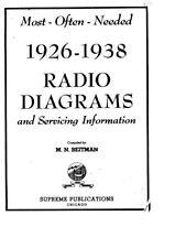 RADIO DIAGRAM SCHEMATICS 1926-1969 MOST OFTEN NEEDED HQ PDF CD FREE SHIPPING
