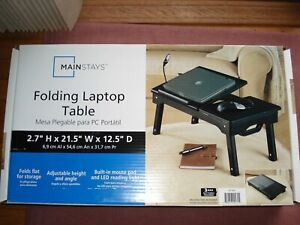 Mainstays Folding Laptop Table Adjustable Height and Angle / Brand NEW in Box