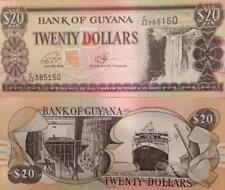 GUYANA 2016 20 DOLLARS P-30 UNCIRCULATED BANKNOTE KAITEUR WATER FALLS & FERRY !!
