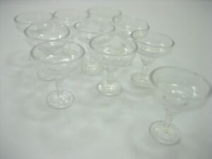 10 Acrylic Cocktail Glass Dollhouse Miniatures Accessories Beverage Supply 12505