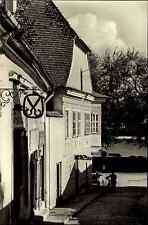 Szentendre Ungarn s/w Postkarte 1965 Görög utca griechische Straße Schneiderei