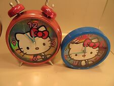 Hello Kitty wall clock plays music on the hour and large hello kitty alarm clock
