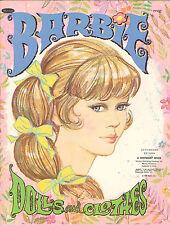 VINTAGE 1969 BARBIE PAPER DOLLS ~WHITMAN~ UNCUT~CUTE ORG SZ LASER REPRODCTION