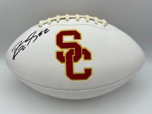 Robert Woods Signed USC TROJANS White Panel Logo Football COA Holo