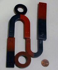Pair Of Magnet Magnetic Horseshoe U Shape Bar Circular Painted Set Of 2 New