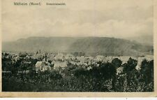 Germany AK Mülheim Mulheim an der Mosel - Total View 1919 sepia postcard